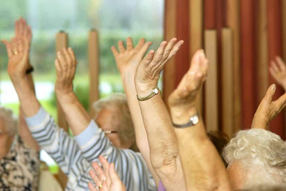 Gymnastiek voor 60-plussers in De Banne